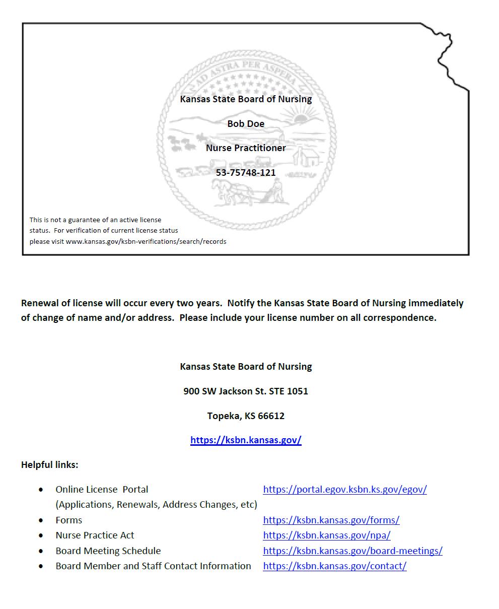 Print Licenses Ksbn Kansas Gov